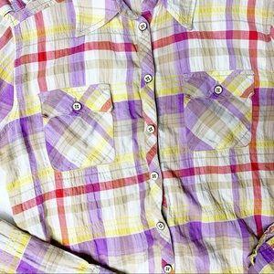 Anthropologie Tops - 🔥 Anthropologie Postmark Fall Plaid Shirt •